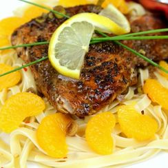 SALMON with ORANGE BALSAMIC SAUCEThis recipe combines the wonderful flavors o