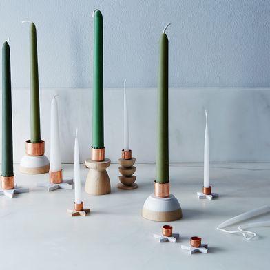 Make Minimal, Modern Candlesticks Using Copper Tube Caps