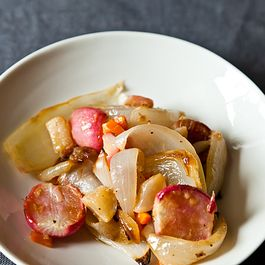 Roasted Spring Root Vegetables with Horseradish-Thyme Butter