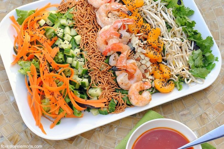 Asian Shrimp Salad with Gochujang Dressing