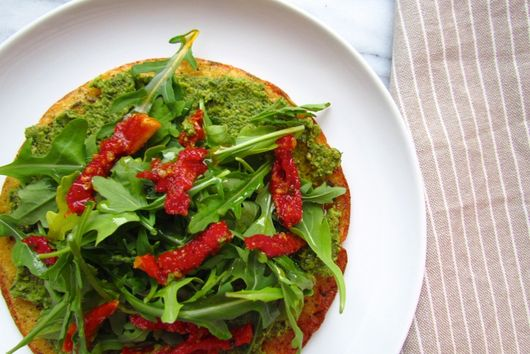 G-Free Chickpea Flatbread with Fava Puree