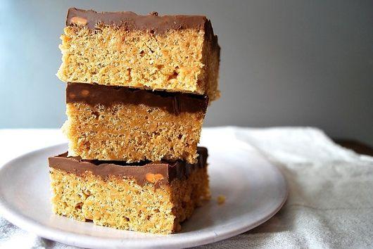 Scotcheroos (Rice Krispies with Peanut Butter, Butterscotch & Chocolate)