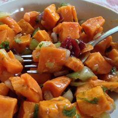 Sweet Potato, Cranberry and Pecan Salad
