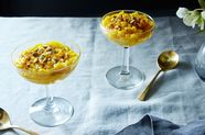 Saffron-Infused Rice Pudding (Sholeh Zard), in the Persian Manner