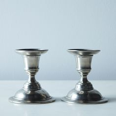 Martina Pewter Candlestick Holders (Set of 2)