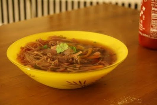 Gingeriest Asian Broth with Noodles