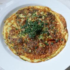 Chinese Shrimp & Chives Omelette (韭菜煎蛋)