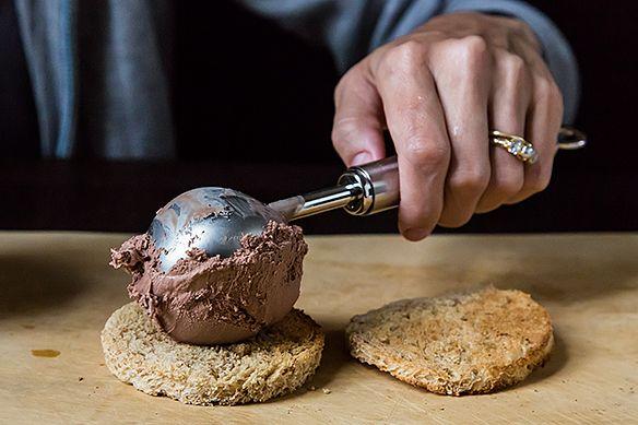 Scooping the ice cream
