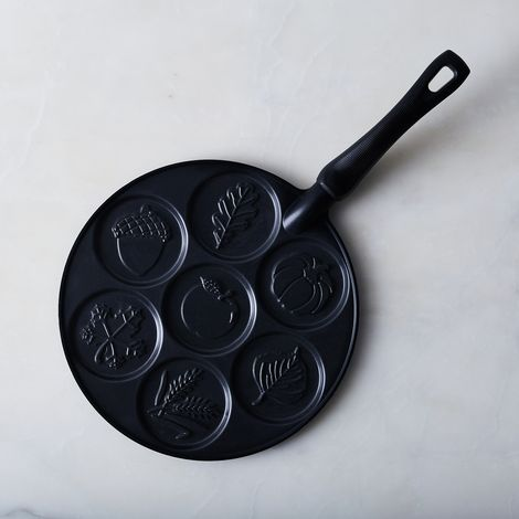 Autumn Leaves Silver Dollar Pancake Pan