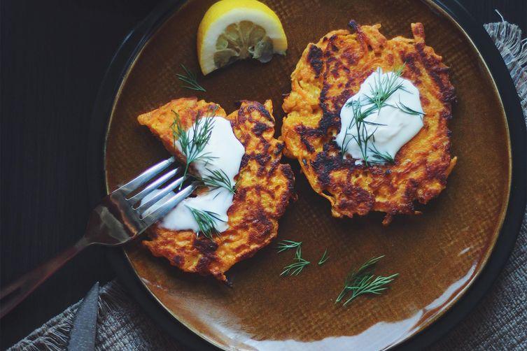 Savory Yam Pancakes