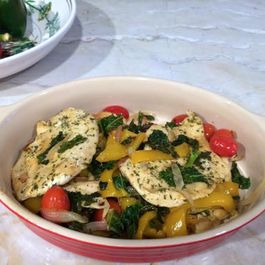 Chicken with Sautéed Kale and Veggies