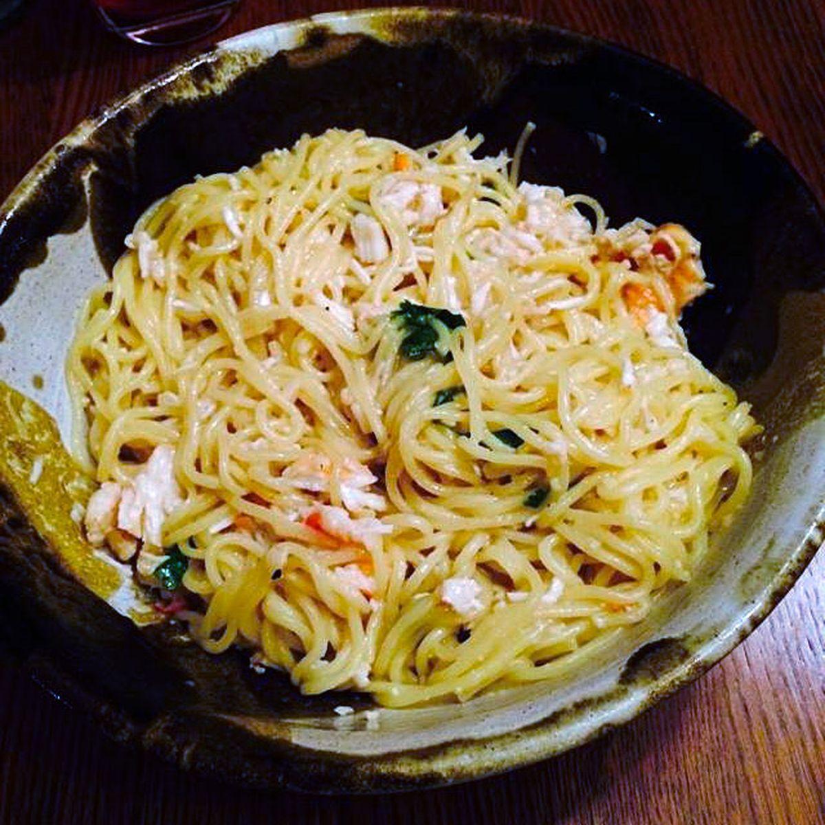 Garlic Crab Noodles
