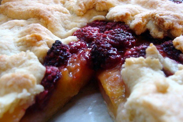 Peach Raspberry Tart