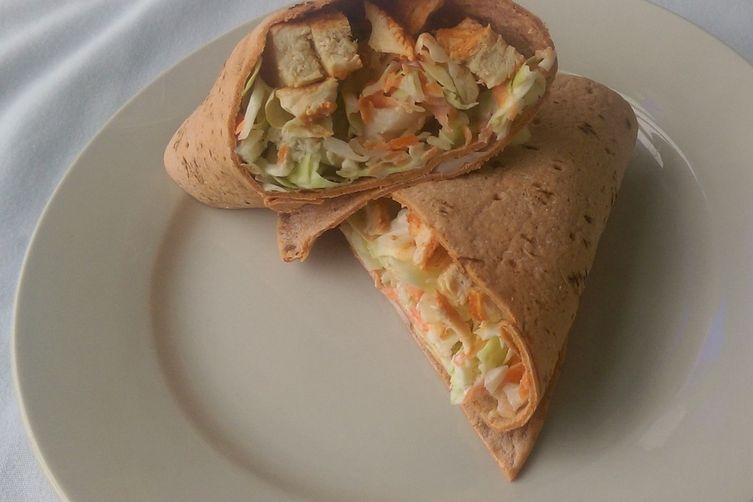 Buffalo Chicken Salad Wraps
