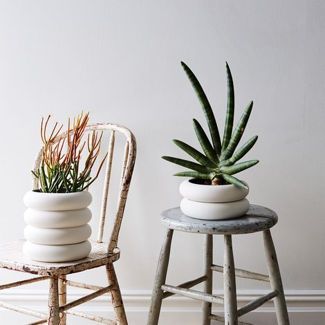 Stacked Porcelain Planter