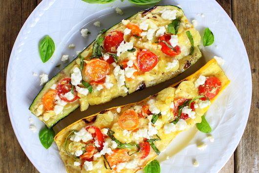 Tomato Feta Grilled Zucchini and Squash