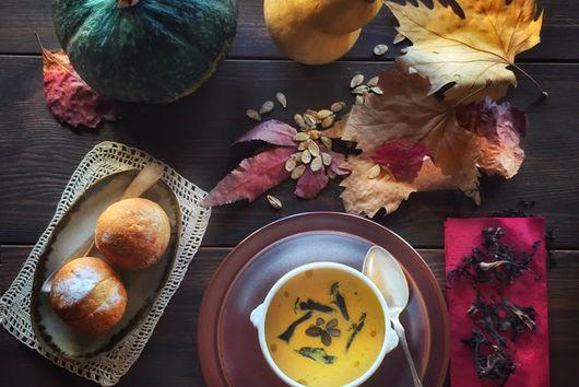 Roasted Pumpkin & Black Trumpet Soup