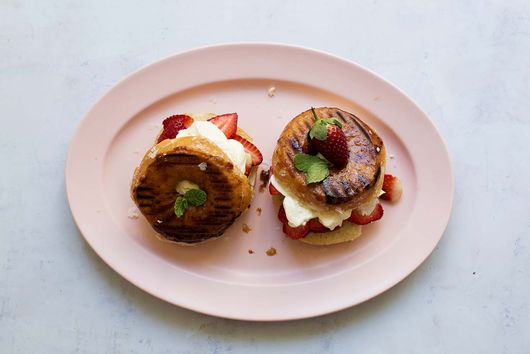 This Strawberry Shortcake is Made of Grilled Doughnuts