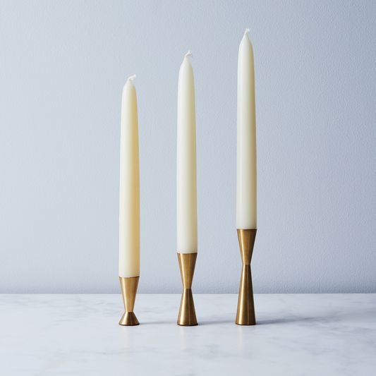 Candlestix Brass Candle Holder (Set of 3)