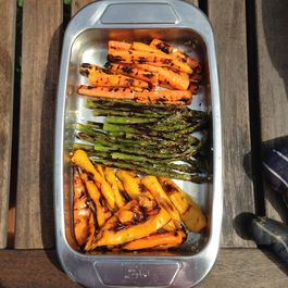 Grilled Asparagus with Garlic
