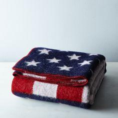 American Flag Wool Throw