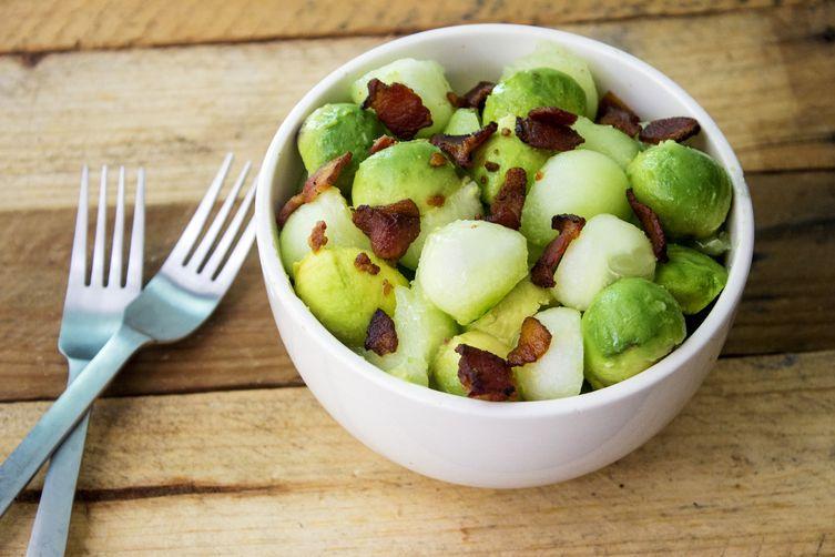 Avocado Melon Salad with Serrano-Lime Vinaigrette Recipe on Food52