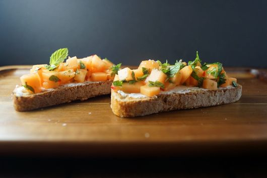 Fresh Melon Bruschetta