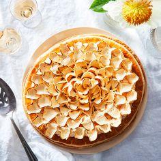 Honey Pistachio Pie With Saffron Meringue Dahlia