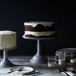 "Grey Swirl 10"" Cake Stand"