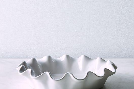 Emile Henry Ceramic Ruffled Pie Dish