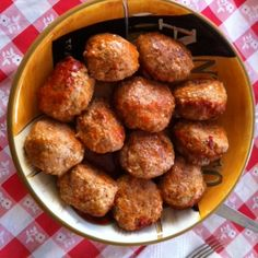 Meatballs Served in Cheese Puffs.