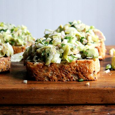 Smoked Trout and Avocado Salad Toasts