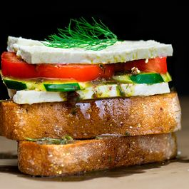 Deconstructed Greek Salad Sandwich