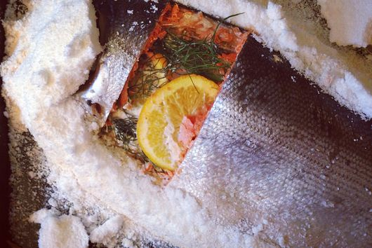 Orange and Fennel Salt-Baked Salmon