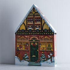 Wooden House Advent Calendar