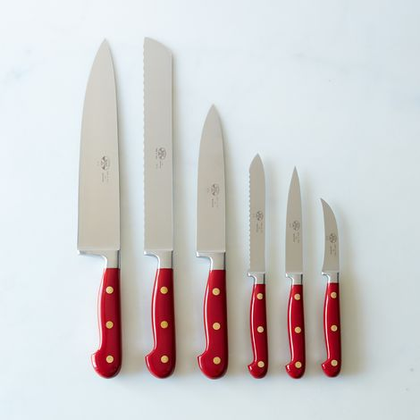 Berti Red-Handled Italian Kitchen Knives