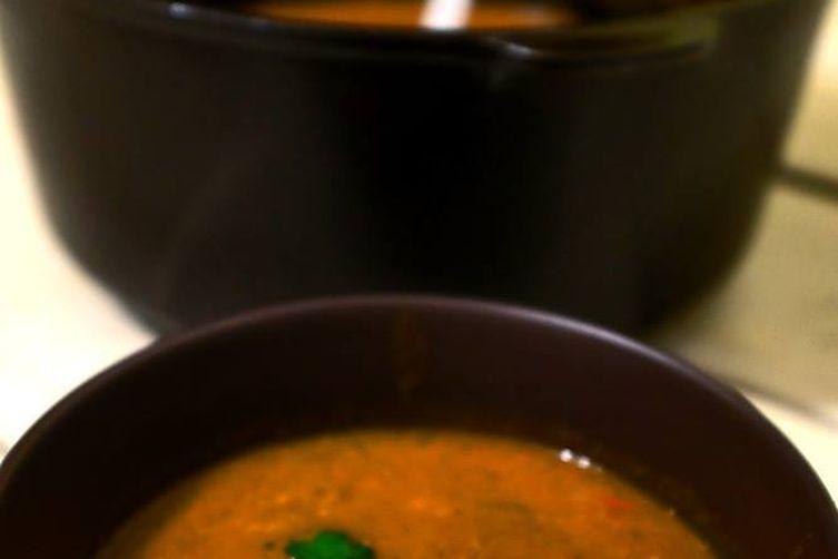 Garlicky Tomato-Leek Soup