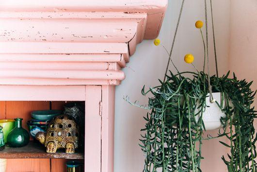 1 Ceramic Hanging Planter, Styled 4 Ways