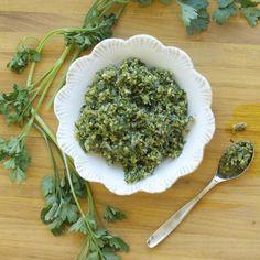 Dandelion Green & Walnut Pesto