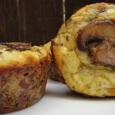 Mushroom and Sourdough Crusted Cremini Mini Quiches