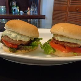 Kick-in Scallion Sauce Burger