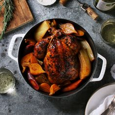 One-Pot Roast Chicken a la Julia Child