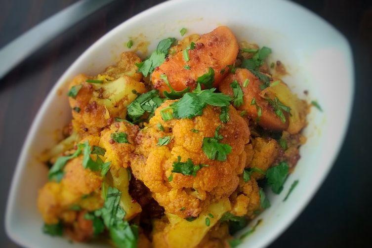 Aloo Gobi with sweet potatoes