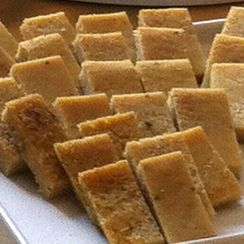 5-Minute Rosemary Sea Salt Farinata squares