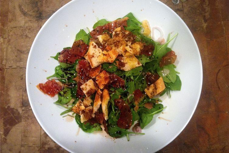 Spinach Salad with Crisped Prosciutto
