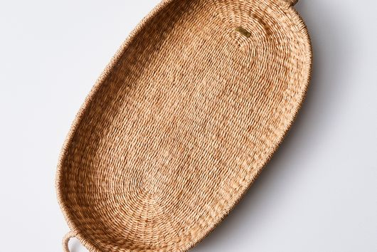 Handwoven Natural Seagrass Basket with Handles