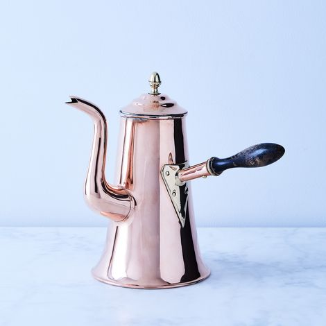 Vintage Copper X-Large Coffeepot, Late 19th Century