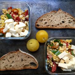 A Tomato-Corn Salad for Amanda's and Her Kids' Lunch