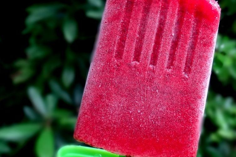 Kombucha Berry Ice pops