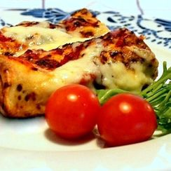 Ground beef cannelloni (crepes)